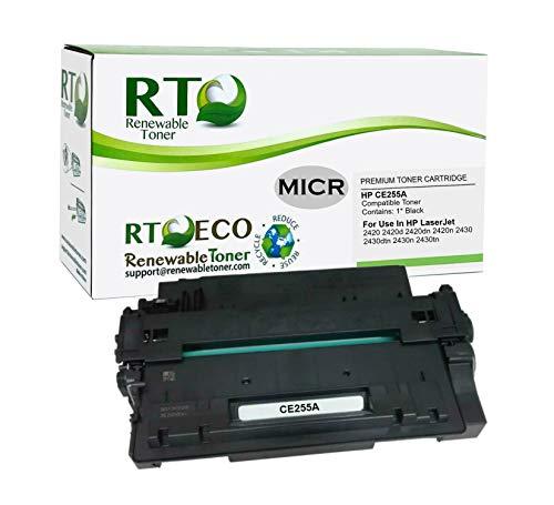 Renewable Toner Compatible MICR Toner Cartridge Replacement for HP 55A CE255A Laserjet Enterprise P3010 P3015 P3016