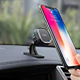 hoco.Car Phone Magnetic Holder Stand Universal Hands-Free Phone Mount Strong Suction Cup for Car Dashboard Windshield, Compatible for iPhone 11 Pro MAX X XS XR Samsung S10 S9 Note 10 (Gray)