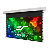 Elite Screens Evanesce Tab-Tension B CineGrey 5D, 126-inch 16:9, in Ceiling Concealed Electric Motorized Drop Down Projector Screen w Ambient Light Rejecting CG5D Projection Material, ETB126HD5-E10