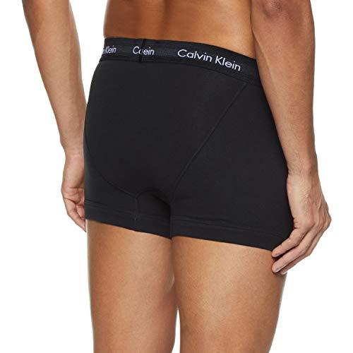 Calvin Klein Underwear Men's Trunks Pack of 3 - Cotton Stretch, Blue (Black/Blueshadow/Cobaltwater Dtm Wb), X-Large
