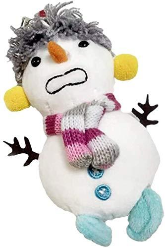Natale pupazzo di neve portachiavi con charms maglione della peluche del pupazzo di neve sacchetto del giocattolo del fumetto del cotone Charms borsa decorativo l'anello chiave for la festa di Natale