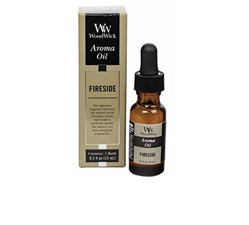 WoodWick Aroma Fragrance Oils for Ultrasonic Diffusers, Fireside