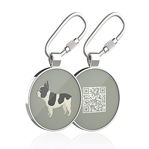 DISONTAG Pet ID Tags, Personalized Dog Tags, Custom Dog Tags,41 Lifelike Patterns, Unique Information Display|Modifiable