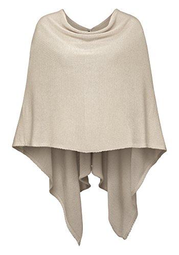 Cashmere Dreams Poncho-Schal aus Baumwolle - Hochwertiges Cape für Damen - XXL Umhängetuch und Tunika - Strick-Pullover - Sweatshirt - Stola für Sommer und Winter Zwillingsherz (hbg)