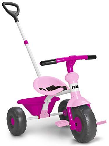 FEBER 800012140 Baby Trike Pink - Triciclo Rosa para niños y niñas de 1 a 3 años