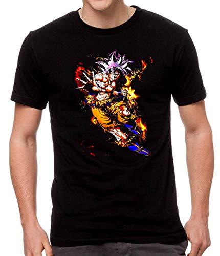 JUL Camiseta Dragon Ball, Goku -Negra Algodon (XXL)