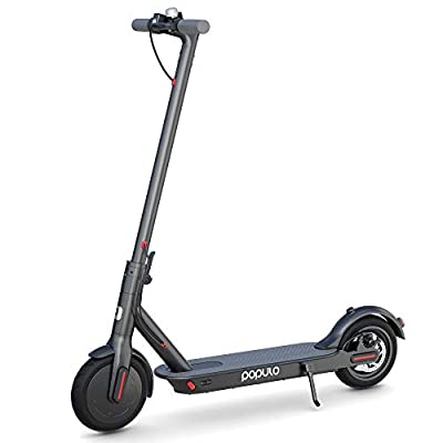 """Populo Electric Scooter - 8.5"""" Pneumatic Tires - Up to 14.5 Miles & 15 MPH Portable Folding Commuting Electric Scooter for Adults with Double Braking System by Shenzhen Elite Electronic Co., Ltd."""