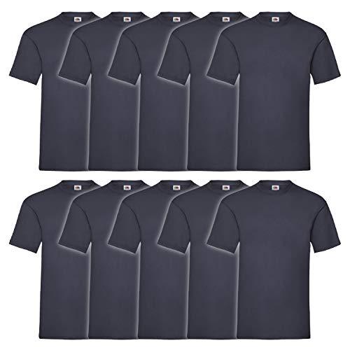 10er Pack Valueweight Fruit of the Loom T-Shirt Größe S - 5XL T-Shirts in vielen Farben XL,deep navy