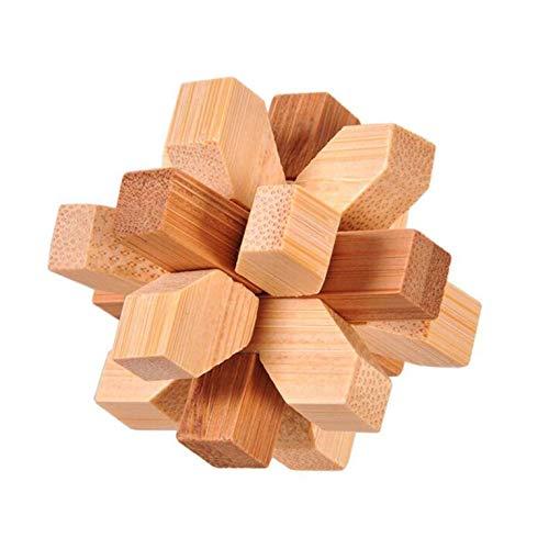 #N/V Rompecabezas 3D rompecabezas de madera clásico cubo Genio rompecabezas y cerebro Teasers juguete