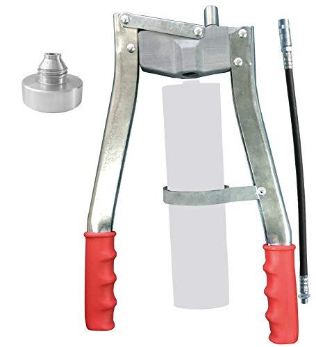Samoa-Hallbauer Profi-Zweihand-Hebelfettpresse PZP; Kartuschen 400 / 500 g; Material Stahl; pulverbeschichtet - 41037000