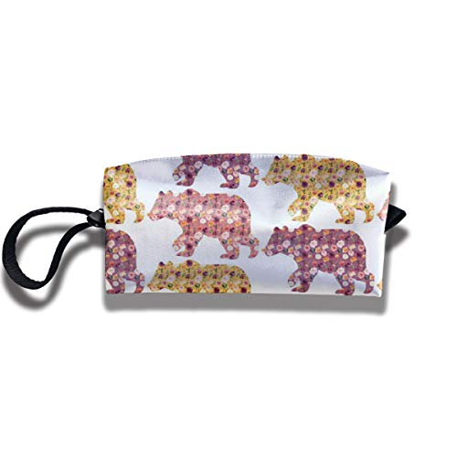 Bbhappiness Pouch Handbag Cosmetics Bag Case Purse Travel & Home Portable Make-up Receive Bag 3 Floral Bears