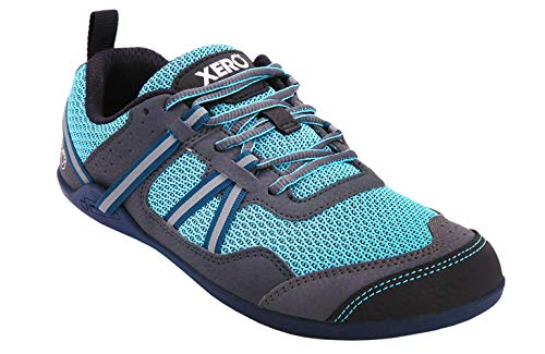 Xero Shoes Prio Damen Minimalistischer Barfuß Trail Road Running Schuh Fitness Athletic Zero Drop Sneaker, Blau (Zartblau), 42 EU