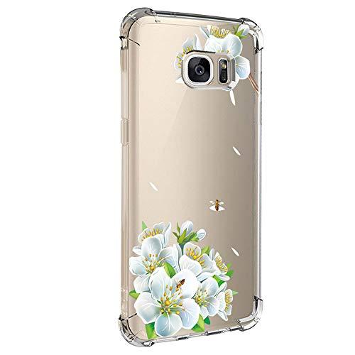 Kompatibel für Samsung Galaxy S6 Edge Hülle,Samsung Galaxy S6 Edge Handyhüllen Crystal Clear Ultra Dünn Flexibel Silikon Case Slim Transparent Schutzhülle Tasche case für Samsung Galaxy S6 Edge (5)