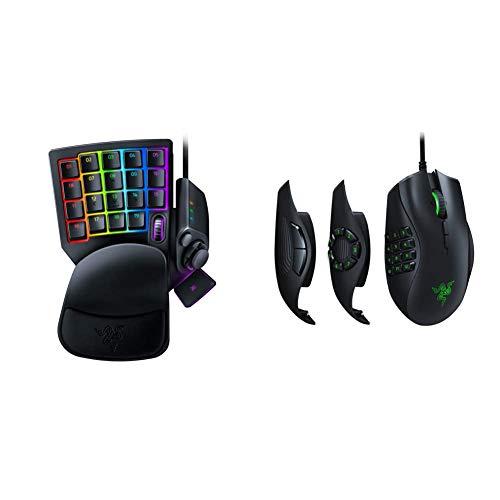 Razer Tartarus Pro Gaming Keypad: Analog-Optical Key Switches - Classic Black & Naga Trinity Gaming Mouse: 16,000 DPI Optical Sensor - Chroma RGB Lighting - Interchangeable Side Plate