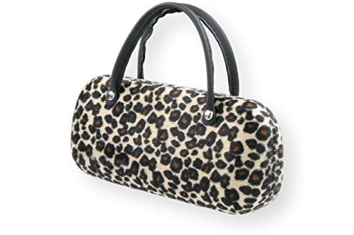 Brillenetui Damen mit samtiger Oberfläche wie Fell - auch innen - 4 verschiedene trendige Designs, Farbe:beige/braun/schwarz animal (010)