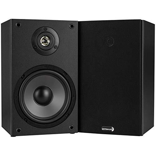 'Dayton Audio B65240W schwarz Lautsprecher–Lautsprecher (Universal, XLR, Oberseite Tisch-/Bücherregal, 1,59cm (0.625
