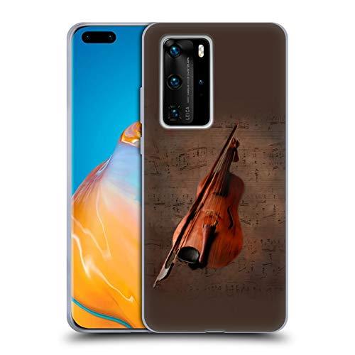 Head Case Designs Offizielle Simone Gatterwe Geige Vintage Und Steampunk Soft Gel Handyhülle Hülle Huelle kompatibel mit Huawei P40 Pro / P40 Pro Plus