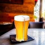 Rainai Bicchieri da birra 3 in 1 con design a scanalature verticali, divertenti e divertenti per 3 bicchieri da birra, da portare in casa, per feste e bar