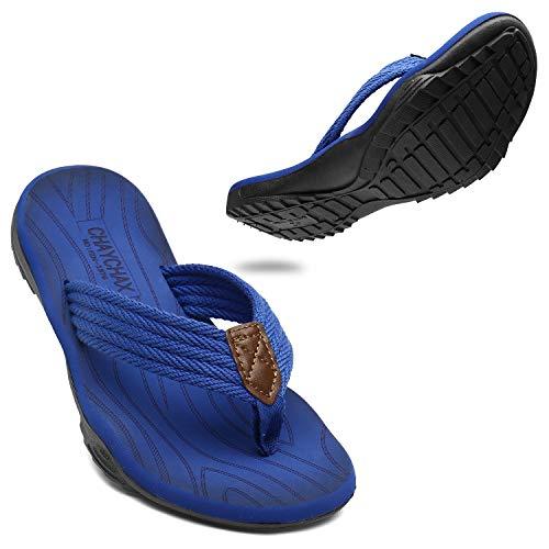 ChayChax Chanclas Hombre Deportivas Sandalias de Playa y Piscina Suave Zapatillas Antideslizante Verano Flip Flops,Azul,44 EU