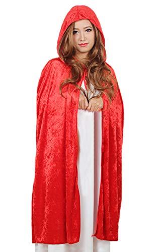 DELEY Femme chaperon Rouge de Velours du Manteau de la Mascarade de Cosplay Cape Costume Accessoire