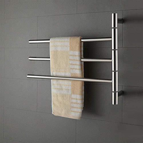 FACAZ Rieles para Toallas calefactados Toallero de baño montado en la Pared 0W / 40W / 50W Toallero eléctrico Inteligente, Toallero eléctrico de Acero Inoxidable 304, 50Wheating (Tamaño: 30Wheating)