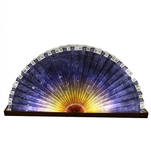Luz De Libro De Madera, Novedosa Lámpara De Libro Plegable, Luz De Noche Plegable, Lámpara De Mesa De Madera Recargable por USB, Decoración De Oficina para La Novia De La Familia,Púrpura
