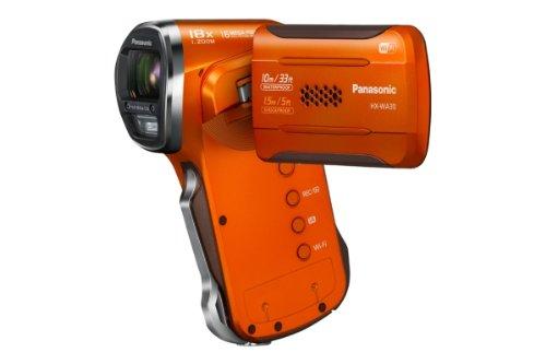 Panasonic HX-WA30EG-D - Videocamera impermeabile (6,7 cm (2,7 pollici), display LCD MOS sensore, 3 Megapixel, Full HD, zoom ottico 5x, USB 2.0, impermeabile fino a 10 m, colore: Arancione