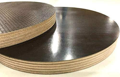 Runde Holzscheibe Holz Rund Kreis Siebdruckplatte Scheibe Multiplex Tischplatte 80-1000mm (Stärke 9mm, ø320mm)
