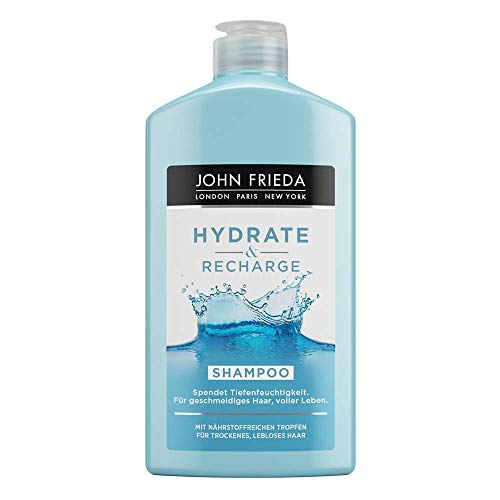 John Frieda Hydrate & Recharge - Shampoo - Spendet Tiefenfeuchtigkeit, 1er Pack(1 x 250 milliliters)