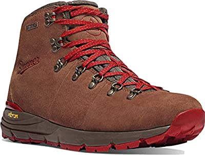 "Danner Women's 62245 Mountain 600 4.5"" Waterproof Hiking Boot, Brown/Red - 6 M"