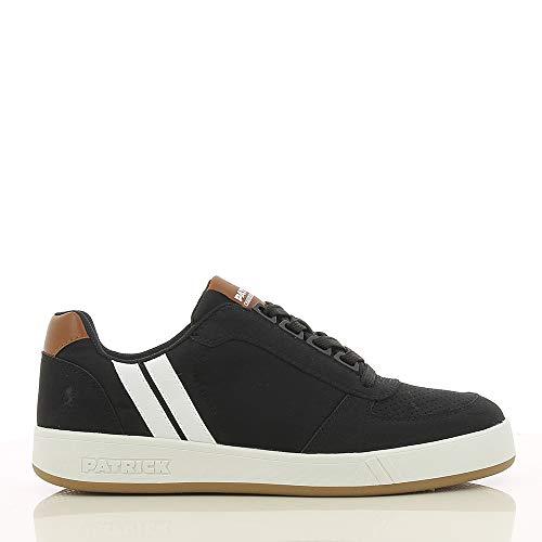 SPROX Sneaker Herren, Sneaker & Sportschuh, Schnürhalbschuhe, Herren Schuhe als Business und Freizeitschuhe, Street Style mit Materialmix und Streifen, schwarz EU 44