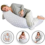 Bamibi Multifunctional Pregnancy Pillow & Breastfeeding Pillow + Inner Cushion. Cover 100% Cotton, Filling...