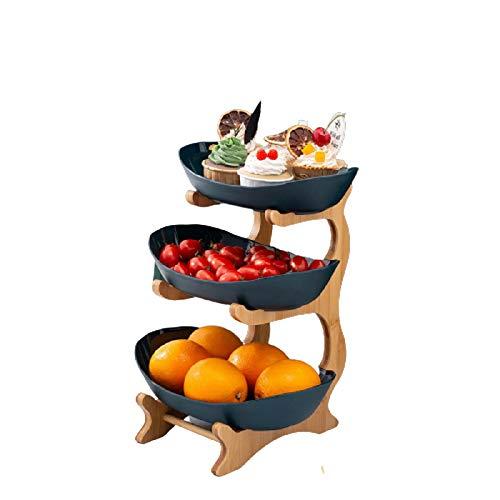 hsy Bandeja de Frutas para Fiestas,Organizador de Armario de Cocina Decorativo Frutas y nueces Estilo Moderno Vegetales Cesta con Forma Fruta Vegetal Tazón de Servir Organizador de Cesta de pie