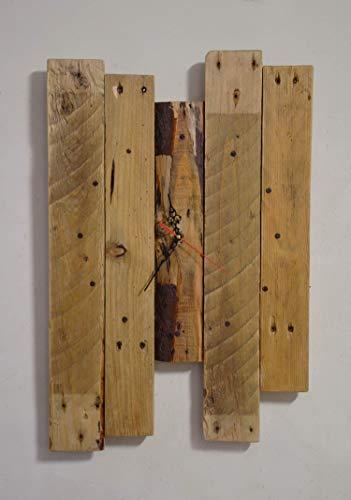 Reloj de pared rústico de madera plataforma recuperada diseño vintage habitación