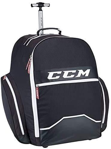"CCM Hockey 390 Wheeled Backpack Bag, Black 18"" L x 26"" H x 17"" W"