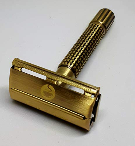 Global Shave Espresso - Butterfly (TTO) Double Edge Safety Razor Kit for Wet Shaving - Made of 100% Noble Gold Brass - Premium Quality - Double Edge (DE) Safety Razor. New now ships free!