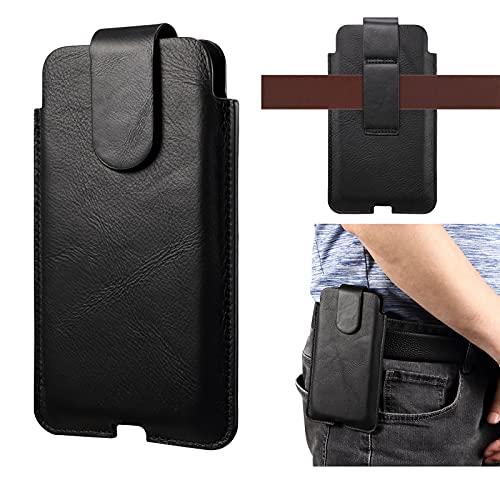 Funda de piel auténtica para Samsung S21+ 5G, S21 Ultra 5G, S20 FE, Note 20 Ultra, s21Ultra, s21plus, s20ultra, s20+, funda de piel auténtica con correa para el cinturón para iPhone 12 Pro Max