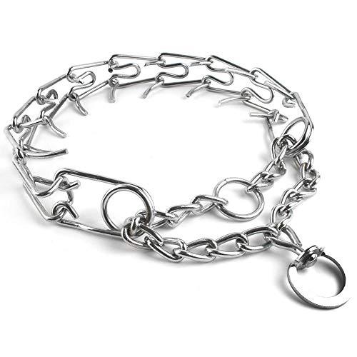 LHKMGH Collar De Cadena De Perros De Metal Profesional, Cuello De Estrangulador Pet Prong 50 Cm