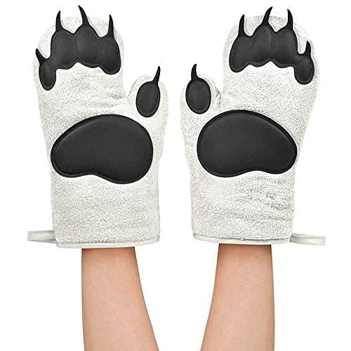 Horno de gel de sílice anti escaldado guantes de cocina horno de microondas Horno de cocción espesado de alta temperatura guantes de aislamiento