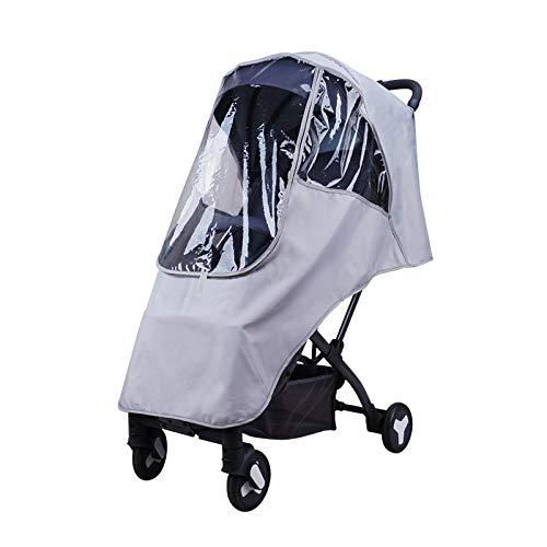 LITIAN Poussette bébé Rain Cover Les modèles universels bébé Poussette Transparent Warm Respirant et Coupe-Vent Anti-Pluie Couverture Gray