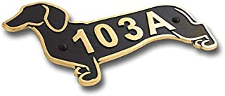 Dachshund Metal House Number Address Plaque. Sausage Dog Gift Idea for A Dachshund Owner. Yard Or Garden Dachshund Décor Makes A Great Gift for Him Or Her. Handmade in England by The Metal Foundry.