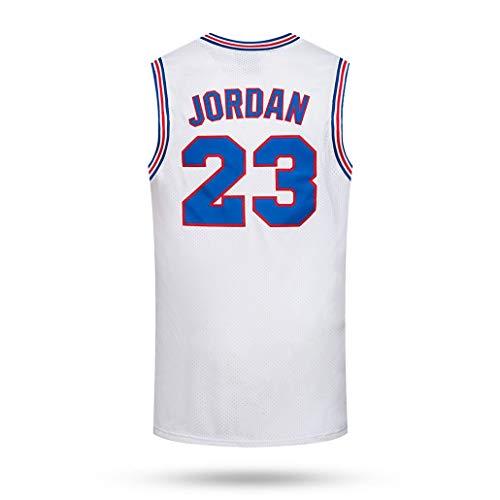 Auart Mens Basketball Jersey # 23 Michael Jordan Tune Squad Space Jam New Season Movie Version Klassische Gedenkausgabe (Color : White, Size : XXL)