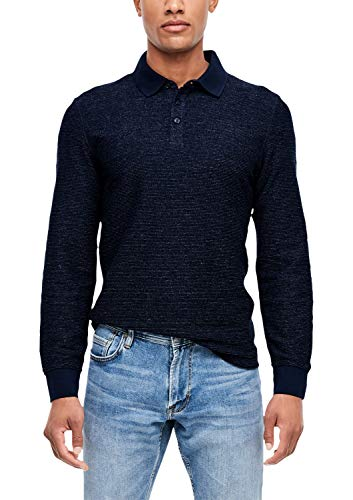 s.Oliver Herren 13.911.31.6767 Langarmshirt, Blau (Fresh Ink 59w0), (Herstellergröße: XX-Large)