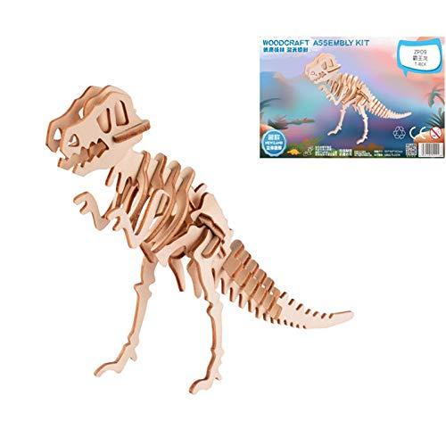 XINR Rompecabezas 3D De 31 Piezas Kits De Modelo De Tiranosaurio Ensamblaje De Bricolaje Rompecabezas De Madera Niños Adolescentes Juguetes Regalos
