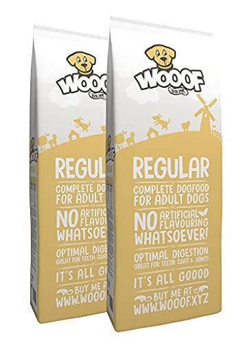 WOOOF Regular 28kg kaltgepresstes Hundefutter mit Rindfleisch | Purinarmes Trockenfutter, natürliche Zutaten, leicht verdaulich, ohne Weizengluten