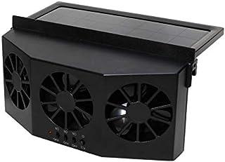 CamKpell Energía Solar Radiador Extractor de vehículos - Negro