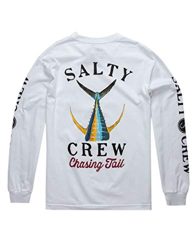 Salty Crew Men's Tailed Long Sleeve Tee White Large