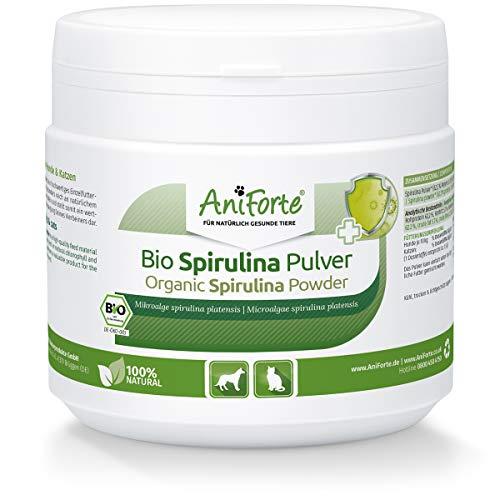 AniForte Bio Spirulina Pulver für Hunde & Katzen 250g, Mikroalge unterstützt Haut & Fell, Immunsystem & Stoffwechselprozesse, Vitamine & Mineralstoffe, Naturprodukt, biologischer Anbau, Laborgeprüft