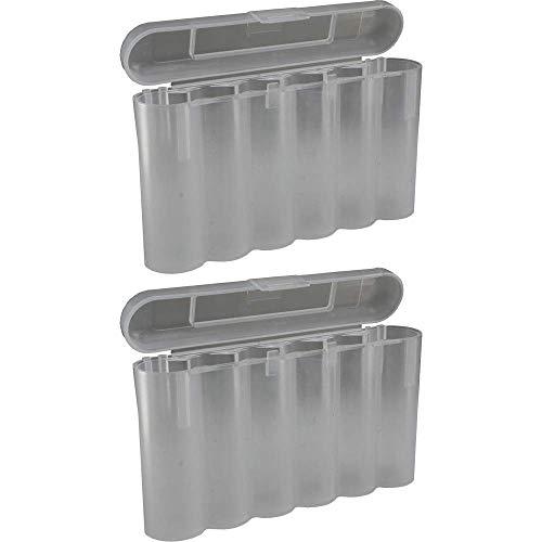 Birdz 2 Clear 18650 & CR123A 6 Battery Holder Storage Case for 18650 Batteries