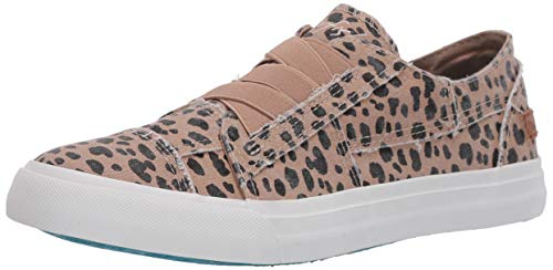 Blowfish Malibu womens Marley Sneaker, Latte Spots Print Canvas, 6.5 US